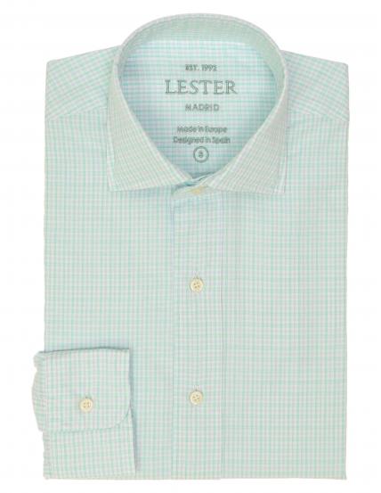 Camisa sport cuadro Azul/verde