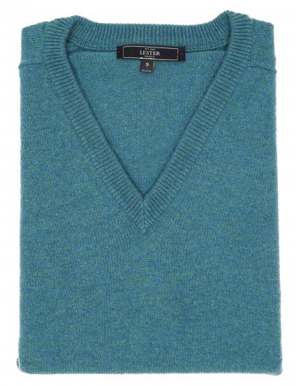 Jersey lana pico Verde agua