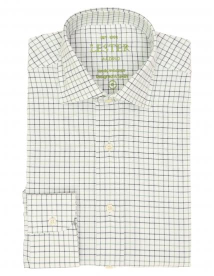 Camisa sport viela cuadro pequeño Azul/verde
