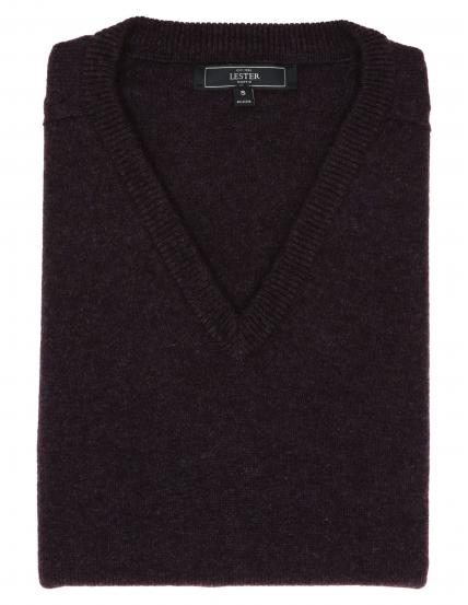 Jersey lana pico Berenjena