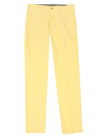Pantalón lino algodón Amarillo
