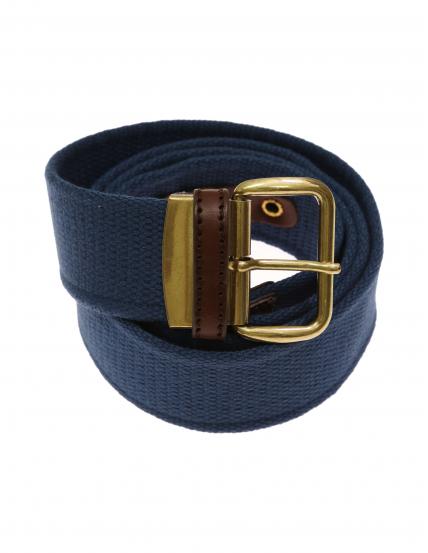 Cinturón lona liso Azul medio