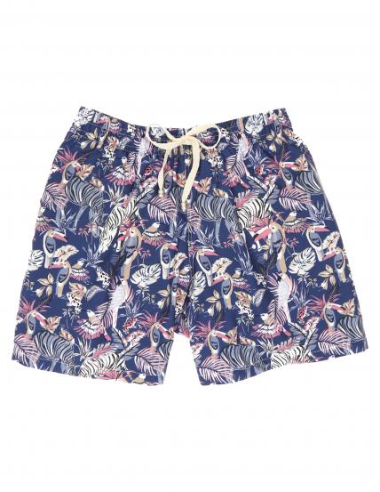 Traje de baño cebras tucanes Azul/rosa