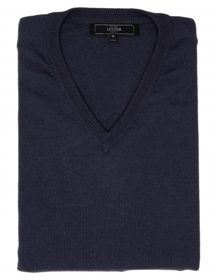 Jersey pico algodón cashmere Azul oscuro