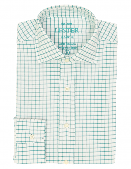 Camisa sport oxford cuadro Verde