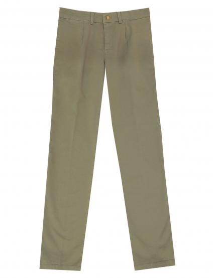 Pantalón gabardina elastan c/p Verde