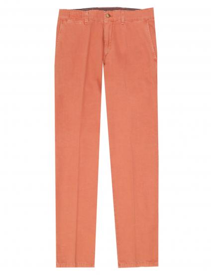Pantalón lino algodón Rojo
