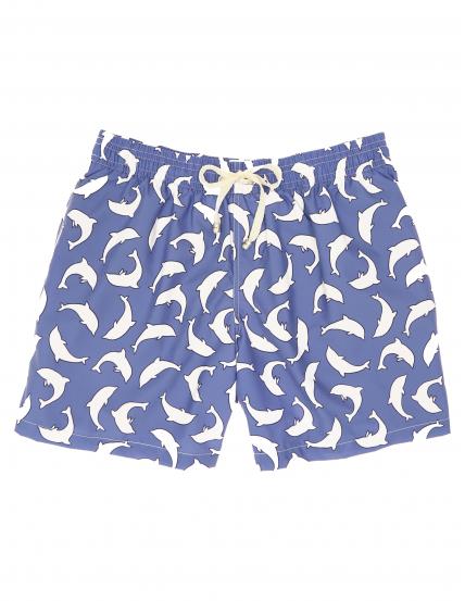 Traje de baño delfines Azul