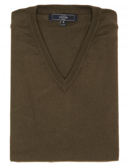 Jersey pico algodón cashmere Verde