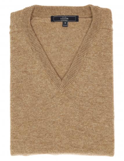 Jersey lana pico Beige