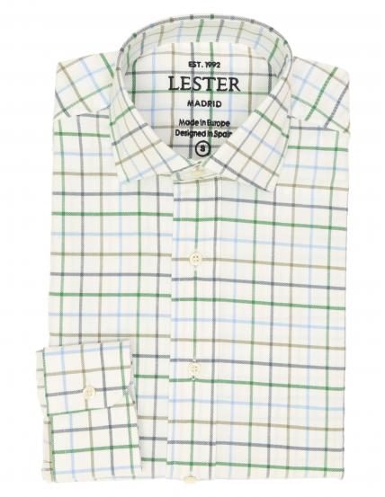 Camisa sport viela cuadro grande Azul/verde
