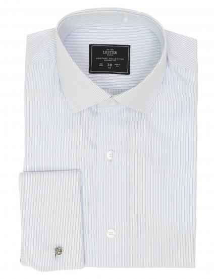 Camisa vestir raya blanca p.d Azul