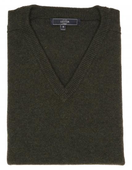 Jersey lana pico Verde oscuro