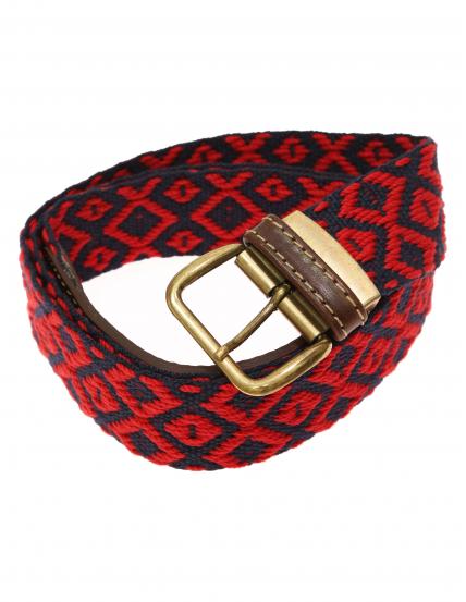 Cinturón lona ochos Azul/rojo