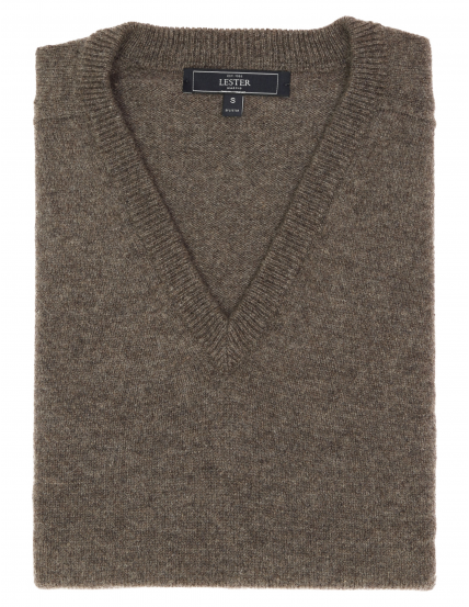 Jersey lana pico Marrón