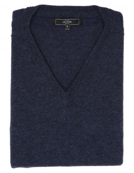 Jersey lana pico Azul oscuro
