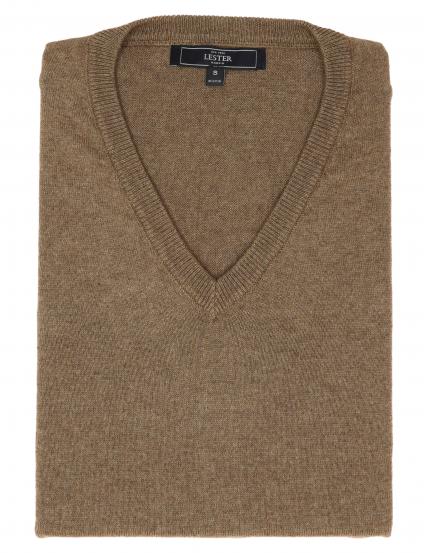 Jersey pico algodón cashmere Beige