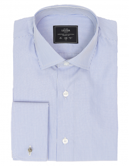 Camisa vestir raya media p.d Azul