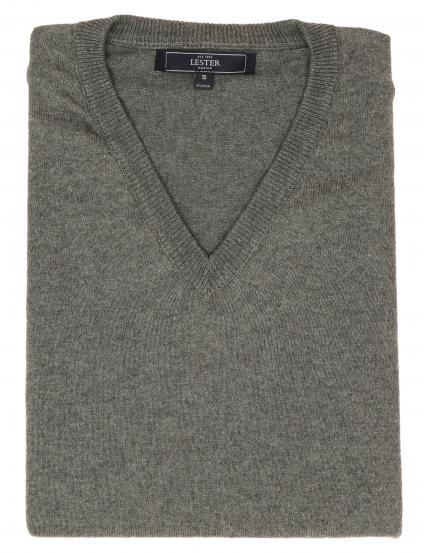 Jersey pico algodón cashmere Gris