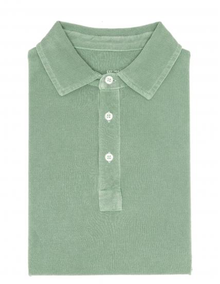 Polo pique lavado Verde claro