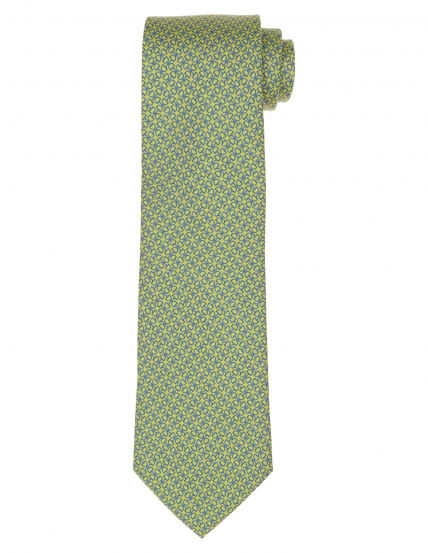 Corbata calabrote Verde/azul