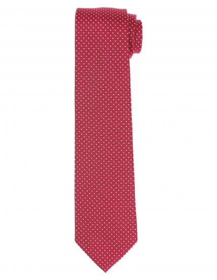 Corbata pois Burdeos/azul
