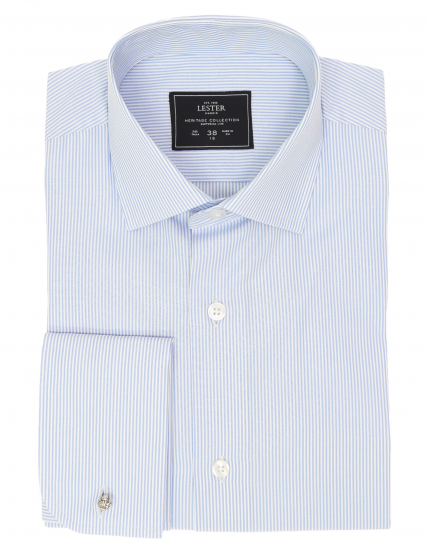 Camisa vestir raya media Azul