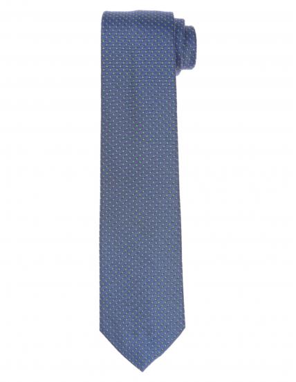 Corbata pois Azul/verde