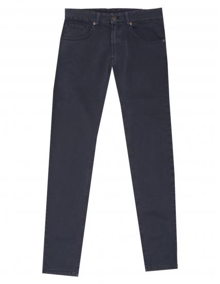 Pantalón 5 bolsillos satén Azul
