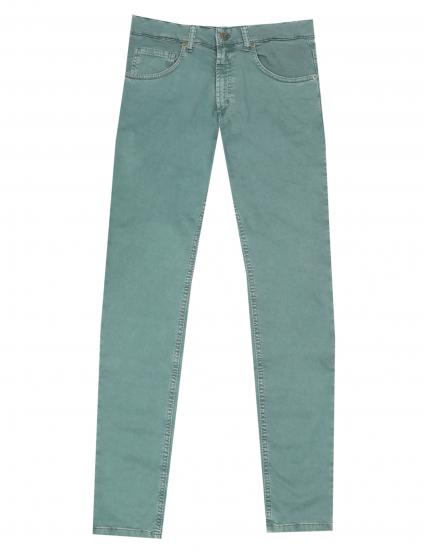 Pantalón 5 bolsillos satén Verde