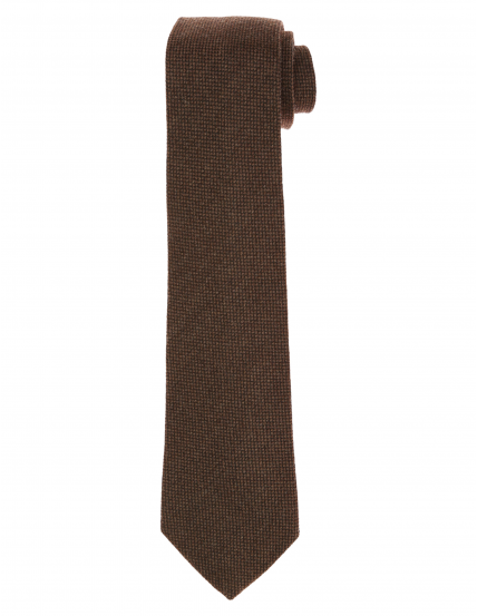 Corbata lana unito Marrón
