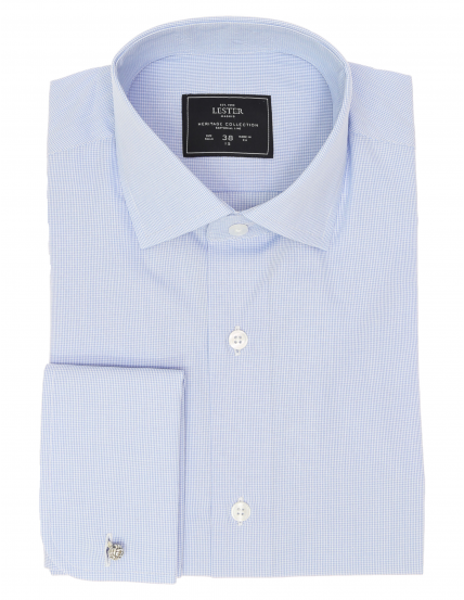 Camisa vestir raya vichy Azul