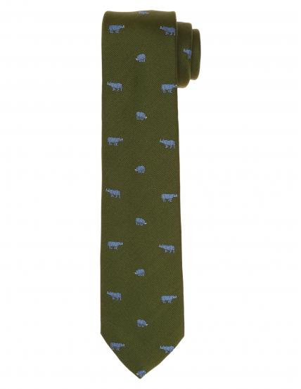 Corbata rinocerontes Verde/azul