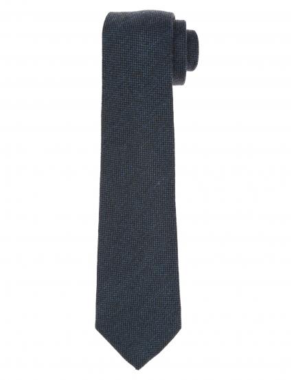 Corbata lana unito Azul medio