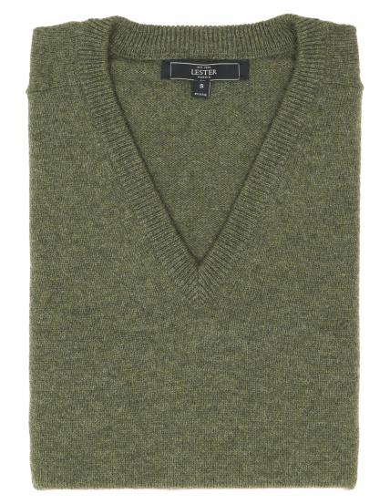 Chaleco sin mangas lana Verde