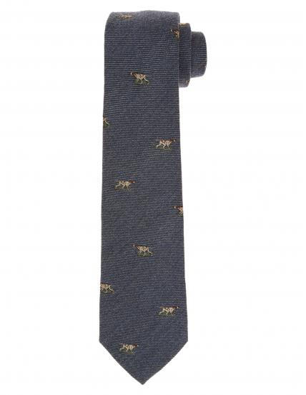 Corbata lana perros Azul medio