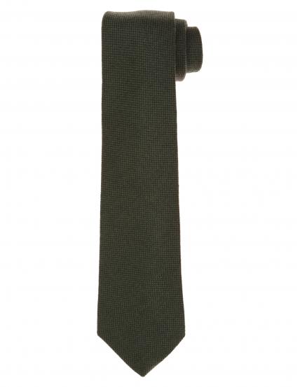 Corbata lana unito Verde