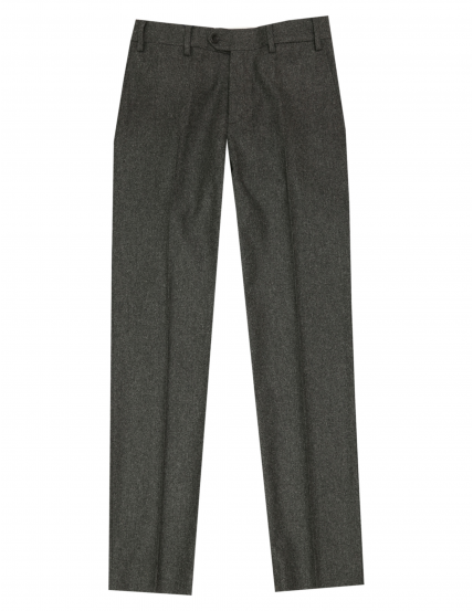 Pantalón franela s/pinzas Gris medio