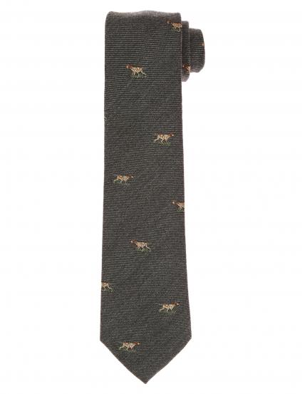 Corbata lana perros Gris