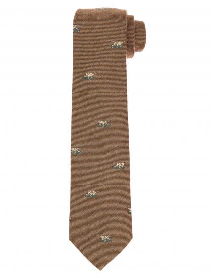 Corbata lana perros Marrón