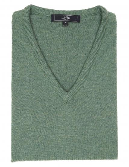 Jersey cashmere pico Verde