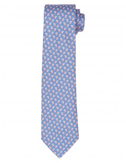 Corbata pelicanos Azul/rosa