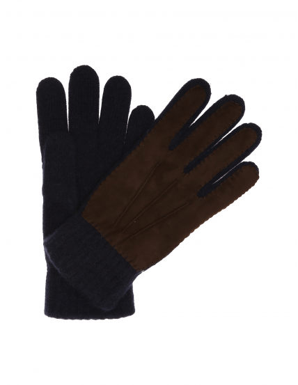 Guante lana tanne Azul marino
