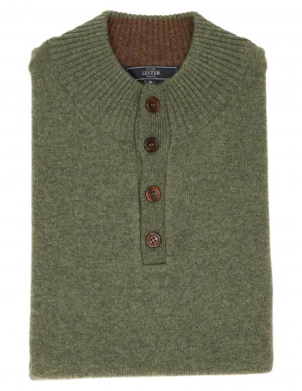 Jersey botones lana Verde