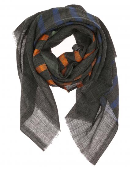Chal lana rayas Gris/azul