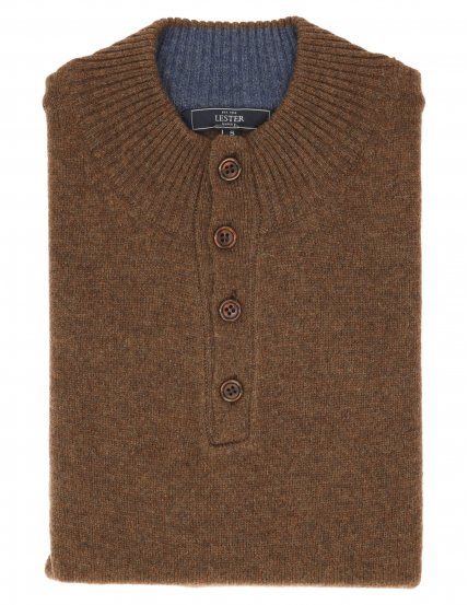 Jersey botones lana Beige