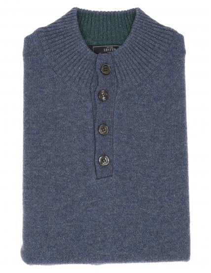 Jersey botones lana Azul