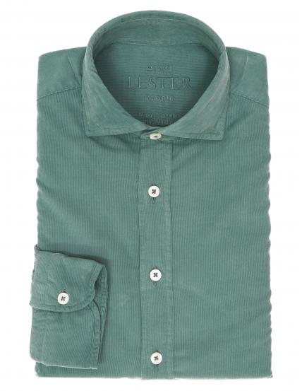 Camisa micropana tintada Verde