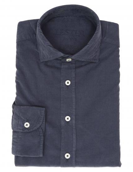 Camisa micropana tintada Azul medio