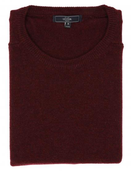 Jersey caja lana Burdeos